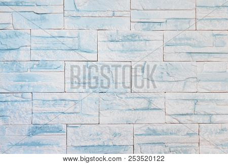 Modern White Wall Of  Bricks, A Natural Texture Background
