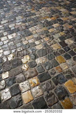 The Roadway Laid Out By Stones, Street In A City
