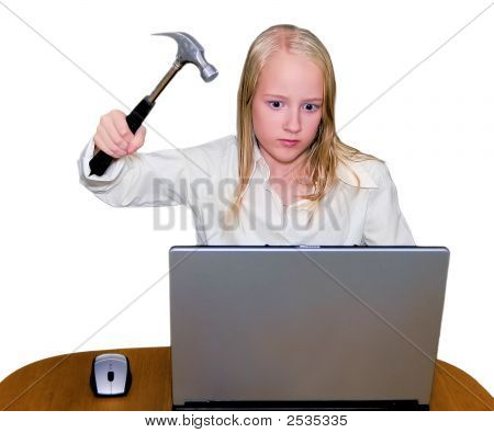 Hammer And Laptop