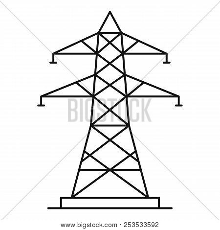 Energy Pole Icon. Outline Illustration Of Energy Pole  Icon For Web
