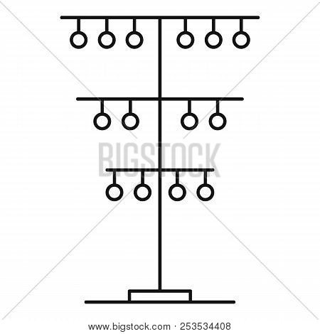 Pole Cable Icon. Outline Illustration Of Pole Cable  Icon For Web