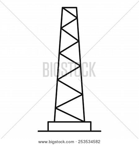 Tall Pole Icon. Outline Illustration Of Tall Pole  Icon For Web
