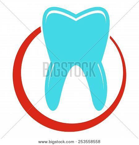 Snow White Tooth Icon. Flat Illustration Of Snow White Tooth  Icon For Web.