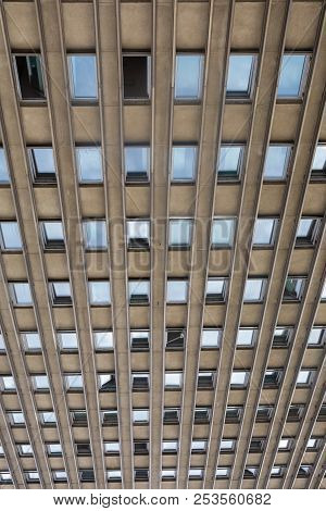 Windows Of A Yellow High-rise Building Background