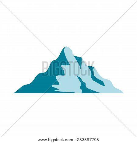 Snow Mountain Icon. Flat Illustration Of Snow Mountain  Icon Isolated On White Background