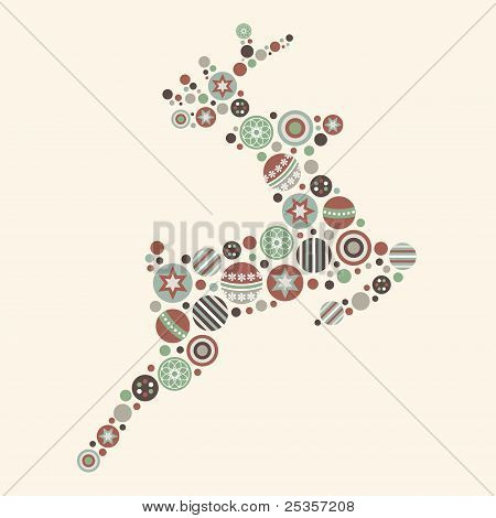Abstract Christmas Reindeer Vector