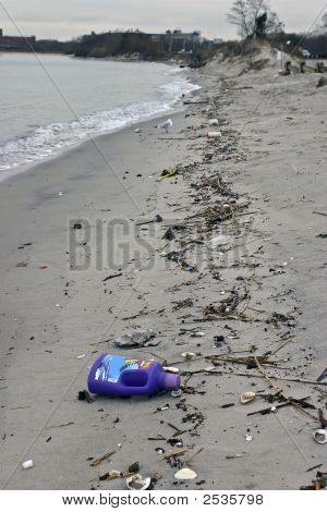 Household Goods Washed Up On A Beach