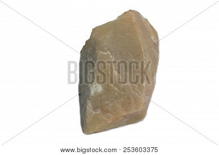 The Dolomite Stone Isolate On White Background