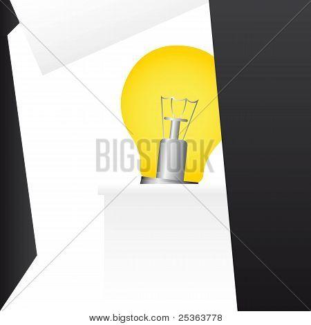 businessman suit with electric bulb