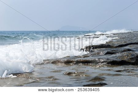 Sea Surf, Sea Coast, Coast Of Turkey, Mediterranean Sea, Sea Water