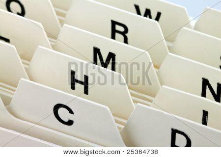 index cards register