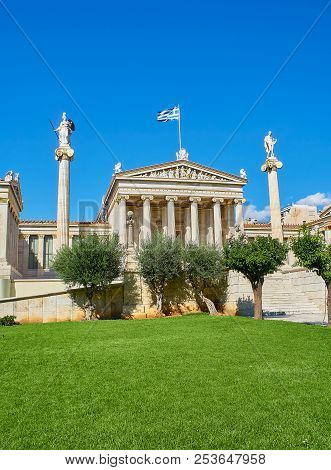 The Academy Of Athens. Attica, Greece.