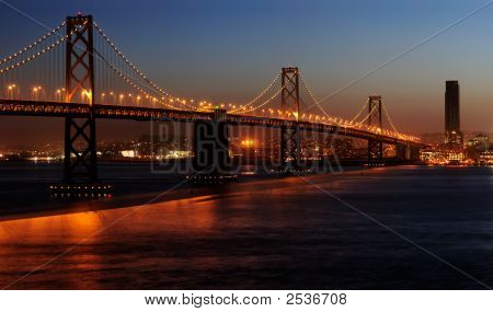 Bay Bridge In The Dusk