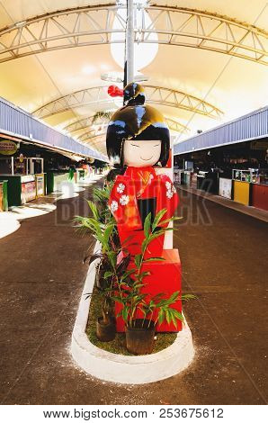 Thematic Japanese Decoration At The Event Xiii Festival Do Soba In Campo Grande City