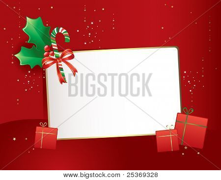 happy new year 2009- vector greeting card on red background and golden ornaments