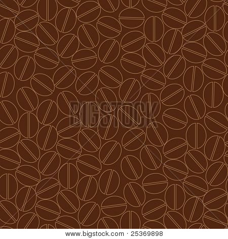 Seamless pattern wallpaper, coffee beans design, vector background