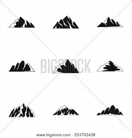 Upland Icons Set. Simple Set Of 9 Upland Icons For Web Isolated On White Background