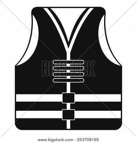 Rescue Vest Icon. Simple Illustration Of Rescue Vest Icon For Web