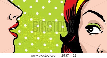 gossiping women, comic books style