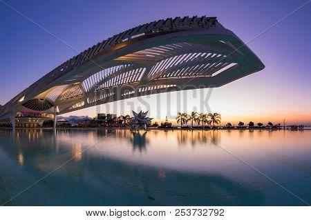 Rio De Janeiro, Brazil - August 11, 2018: The Museum Of Tomorrow, A Science Museum In Rio De Janeiro