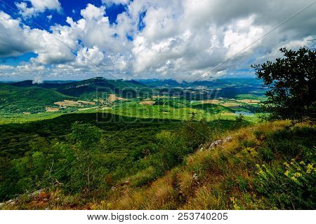 Valley Of Black River In Mountain.  Valley Is Between Two Rivers Black River And Belbek River In Roc
