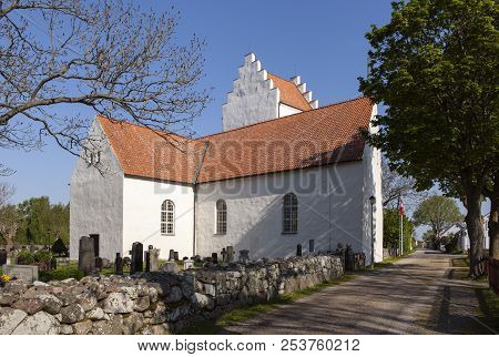 Kristianopel, Sweden On May 15. View Of The Local Church, Chapel Built In 1624 On May 15, 2018 In Kr