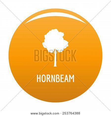 Hornbeam Tree Icon. Simple Illustration Of Hornbeam Tree Vector Icon For Any Design Orange