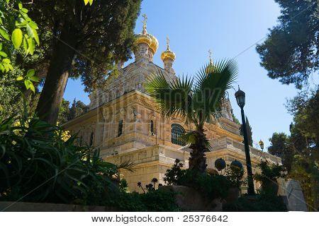 Maria Magdalena orthodox monastery in Jerusalem