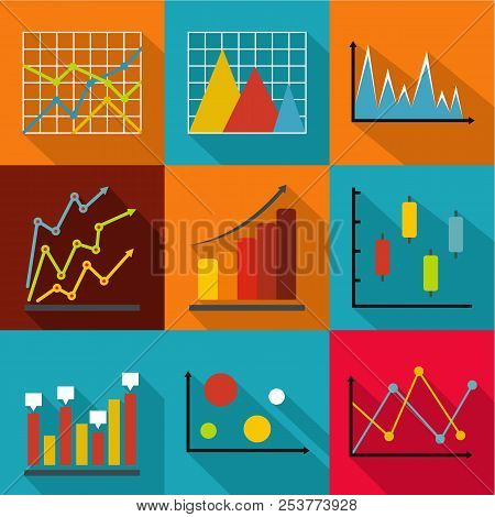 Economic Research Icons Set. Flat Set Of 9 Economic Research Icons For Web Isolated On White Backgro