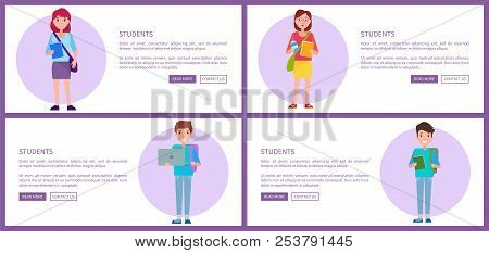 Students Set Online Vector & Photo (Free Trial) | Bigstock