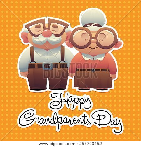 Abstract Cartoon Grandparents Day Background With Special Objects Happy Vector