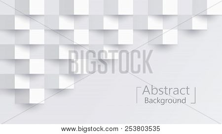 White Abstract Texture. Vector Background 3d Paper Art Style Can Be Used In Cover Design, Book Desig