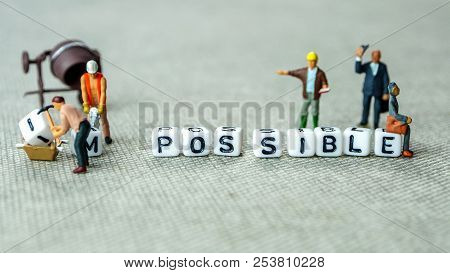Personal Development And Career Growth Or Make Possible Concept In Order To Achieve Set Goals, Grey