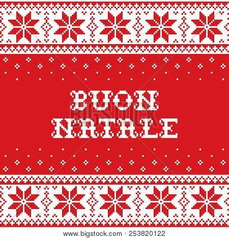 Boun natale merry vector photo free trial bigstock boun natale merry christmas in italian traditional seamless vector pattern or greeting card scan m4hsunfo