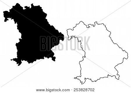 Bavaria (federal Republic Of Germany, State Of Germany) Map Vector Illustration, Scribble Sketch Bav