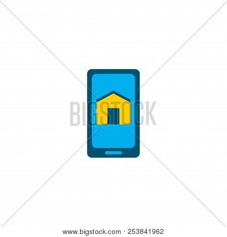 Smart App Icon Flat Element. Vector Illustration Of Smart App Icon Flat Isolated On Clean Background