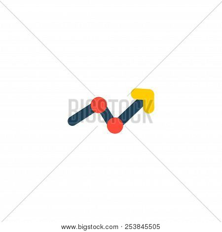 Statistic Icon Flat Element.  Illustration Of Statistic Icon Flat Isolated On Clean Background For Y