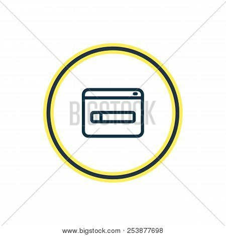 Illustration Of Domain Registration Icon Line. Beautiful Marketing Element Also Can Be Used As Www I