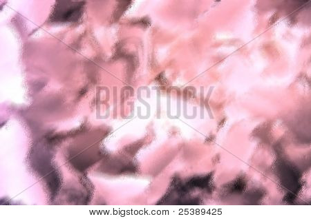 The pink background