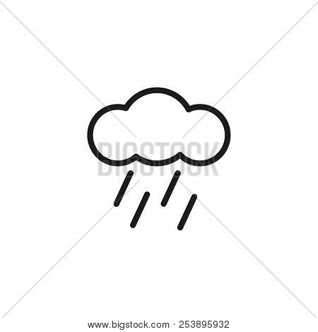 Rain Line Icon. Cloud, Downpour, Season. Weather Concept. Vector Illustration Can Be Used For Topics