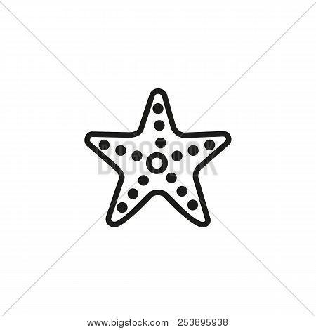Starfish Line Icon. Invertebrate, Fish, Beach. Creature Concept. Vector Illustration Can Be Used For