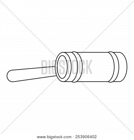 Justice Gavel Icon. Outline Illustration Of Justice Gavel Icon For Web