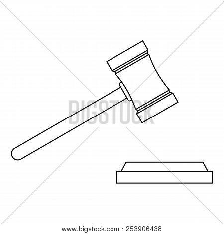 Legal Gavel Icon. Outline Illustration Of Legal Gavel Icon For Web