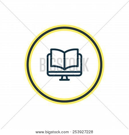 Vector Illustration Of Ebook Icon Line. Beautiful Read Element Also Can Be Used As Online Reading Ic