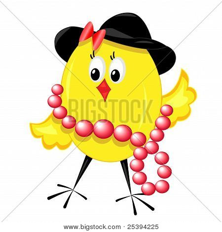 fashion chicken. chic isolated illustration.vector