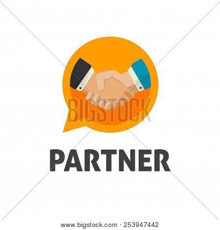 Hand Shake Logo Vector, Flat Design Shaking Hands Symbol, Handshake Logotype, Concept Of Deal Or Par