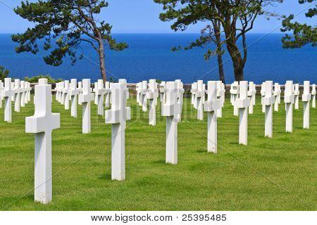 American War Cemetery Near Omaha Beach, Normandy (colleville-sur-mer)