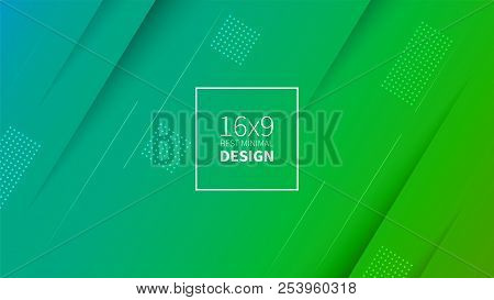 Futuristic Design Green And Blue Background. Templates For Placards, Banners, Flyers, Presentations