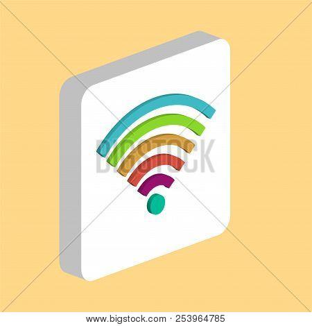 Wireless, Wifi Simple Vector Icon. Illustration Symbol Design Template For Web Mobile Ui Element. Pe