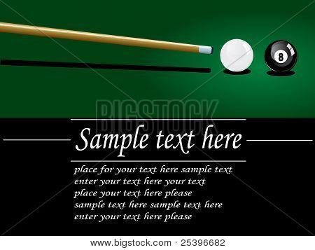 Snooker flayer design
